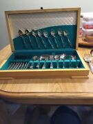 Antique Silverware Set Rogers Bros 1847 Eternally Yours With Chest