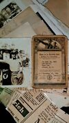 Antique Boy Scout And Bandw Scout Master At Gas Station Photo Citizenship Card 1945