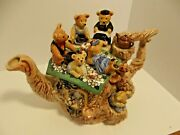 Vintage Limited Edition Large Paul Cardew Teddy Bear Picnic Teapot 2115 Of 5k