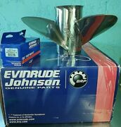 Johnson Evinrude Rebel 3 X 15 1/4 X 19lx Left Lh Stainless Steel Counter Prop