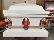 New Beautiful White/pink Casket Copper Hardware Rose Decals