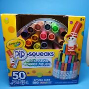 Crayola Telescoping Pip Squeaks Marker Tower Assorted Colors 50/set 588750 New