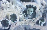 Gone With The Wind Art Original Painting Large Clark Gable Vintage Movies New