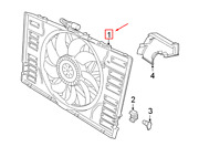 Porsche Panamera 971 Front Engine Cooling Fan Assembly 9a712120303 New Genuine