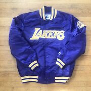 Los Angeles Lakers Starter Jacket Size L Rare