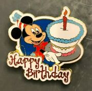 Disney Trading Pin Happy Birthday Cake Candle Mickey Mouse Gift Present Vintage