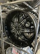 Anddiams️24x10 Gianna 6 Lug Black With Chrome Insert Wheel And Tire Package