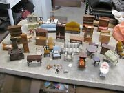 Vintage Doll House Furniture 112 Scale Handcrafted Large Lot