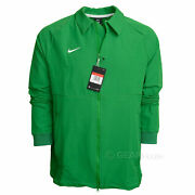 Nike Football Mens Therma Midweight Sideline Jacket Full Zip Green, Size L Large