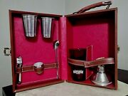 Old Like Mint Liquor Bar Beefeater Portable Travel Bar W Glasses And Tools
