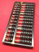 Antique Chinese Abacus 13 Row 91 Beads Early Large 14 5/8 Long Rare Wood Fine