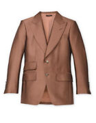 Tom Ford Caramel Iridescent Twill Atticus Jacket - With Tags- Rrp4900 Aud