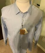 395 R By Robert Graham Cotton Long Sleeve Shirt Hand Made In Italy Xxl