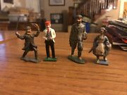 Lot 4 Vintage Lead Toy Figures Barclay Manoil Artists Dutch Maid French Redberet