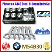 Cp 3.327 84.50 Mm 9.01 Cr Pistons / Eagle Steel H-beam Rods Set For Bmw M54b30