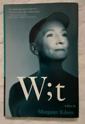 Signed Rare Wit, Wt By Margaret Edson. Hardcover. Pulitzer Broadway Play.