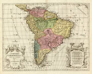 Antique Map-south America-brazil-chile-mexico-elwe-1792