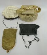 Lot Of Four Vintage Antique Purses Early 1900s