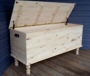 """36"""" Handmade Amish Style Blanket Hope Chest Solid Wood Vintage Farmhouse Table"""