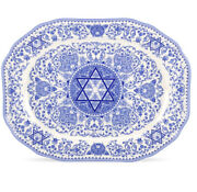 New Spode Blue Room Judaic Collection Challah Tray Dinner Platter