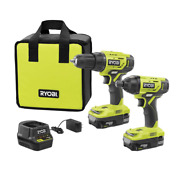 Ryobi 18-volt One+lithium-ion Cordless 2-tool Combo Kit W/ Drill And Impact Driver