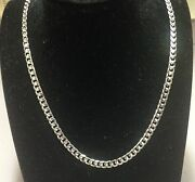 14k Solid White Gold Miami Cuban Curb Link 24 5mm 26 Grms Chain/necklace Wmc150
