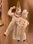 Russian Imperial Lomonosov Porcelain Figurine Boys Holiday Laughter And Joy Gold