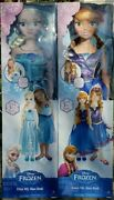Rare My Size Doll Disney Frozen Elsa And Anna 1st Ed 2014 Nib Target Exclusive