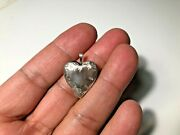 Antique Sterling Silver Heart Pendant Open And Closed