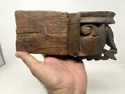 Old Vintage Wooden Decor Handcrafted Collectible Door Wall Panel Candle Stand
