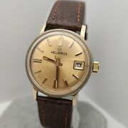 Vintage Helbros 17jewels Menand039s Manual Winding Watch Fe 140-1b Date 1970s