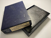 Vintage Oxford Text Bible Rare Pin Seal Morocco Leather Lined Kjv Boxed