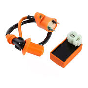 Ignition Coil+racing Cdi Box For Gy6 50cc 125cc 150cc Moped Scooter Atv Go Carts