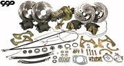 58-64 Chevy Impala Belair Front Rear Cpp Disc Brake Conversion Kit With Booster