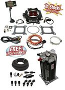 Fitech 30004 Power Adder 600hp Fuel Injection Conversion Kit W/ Command Center 2
