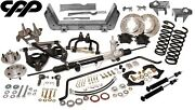 60-65 Ford Falcon Cpp Mustang Ii Ifs Kit Heidts Crossmember Drop Spindle 5 X 4.5