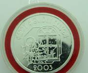 Happy Holidays 2003 1 Troy Ounce .999 Fine Silver Round 1130200j