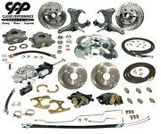 67-70 Chevy C10 Truck 12 Front 11 Rear Brake Kit Stock Spindles 5x5 Hydra Stop
