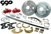 63 64 65 66 Chevy C10 Truck Rear 12 Big Disc Brake Kit Red Calipers