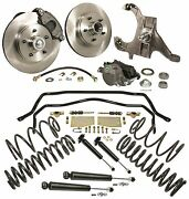 1964-66 Chevy Chevelle El Camino 2 Drop Spindle Disc Brake Kit Handling Package