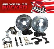 Ford 9 Rear Disc Brake Conversion Kit 12 Rotors Black Calipers 5 On 4 3/4 Bolt