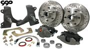 73-87 Chevy C10 Gmc Truck 6 Lug 12 Disc Brake Kit With 2.5 Drop Spindles