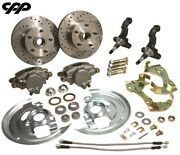 67 68 69 Chevy Camaro Rs Ss Stock Spindle Disc Brake Kit W/ Steering Arms