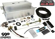 1953-56 Ford F-100 Truck Fuel Injection Efi Aluminum Gas Tank Kit Bed Fill 90ohm