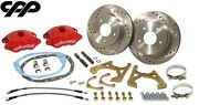 1968-72 Chevy Chevelle El Camino Red Wilwood D52 Rear Disc Brake Conversion Kit