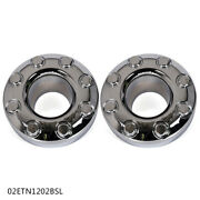 Fit For Ford 05-18 F350 Pair Dually Front 4x4 Open Chrome Wheel Center Caps