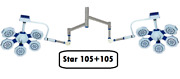 Star 105+105 Surgical Light Led Operation Theater Surgical Light Examination Sfv