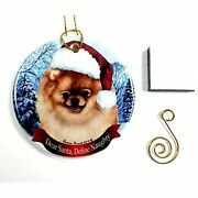 Imprints Plus Pomeranian- Fawn Christmas Ornament 3 Porcelain Gift-boxed With