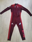 Adidas Biathlon Mens Suit Cross Country Russia Tights Jacket Ski Skinsuit L New