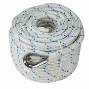 Extreme Max Db Nylon Anchor Line 5/8 300and039 White/blue Tracer 3006.2538